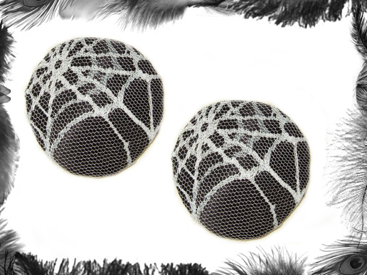 spider web nipple pasties, gothic, burlesque