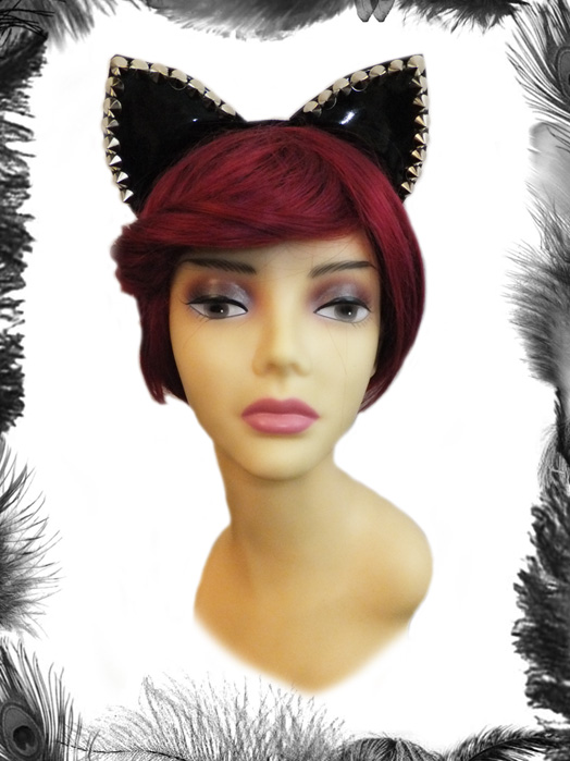Pvc Spike Cat Ears Headband