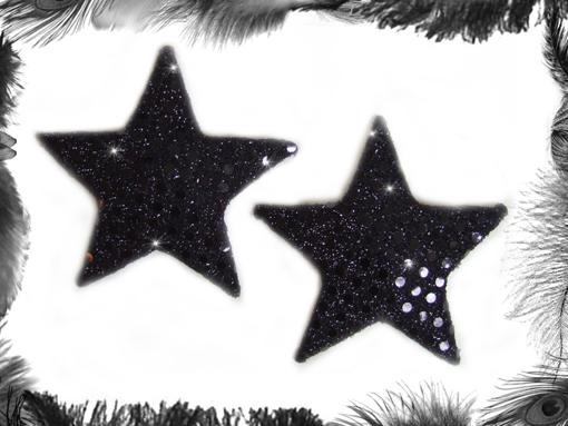 sequin star nipple pasties, burlesque