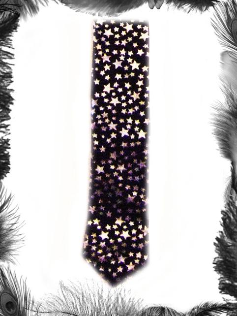 silver stars tie