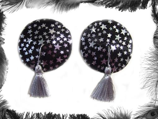stars nipple tassels, burlesque