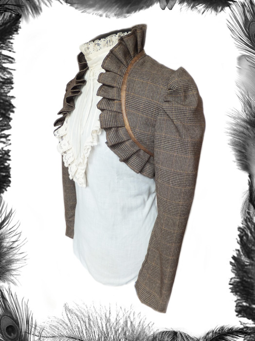 Tweed & Leather Jacket, steampunk, shrug