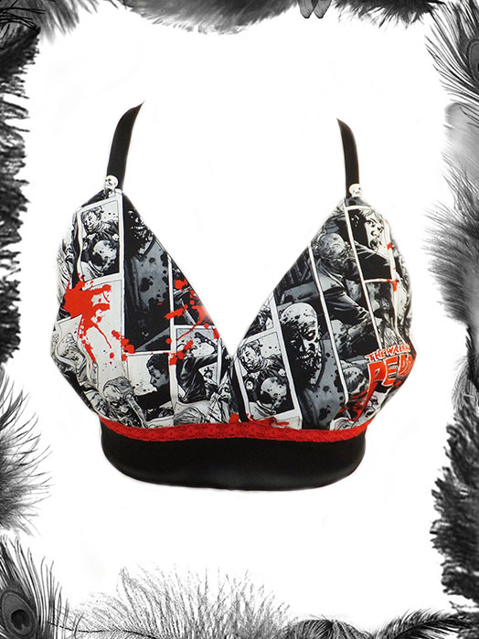 The Walking Dead Print Bra, Cami Top, Horror