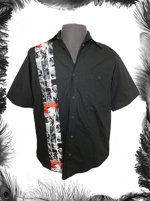 the walking dead print mens shirt