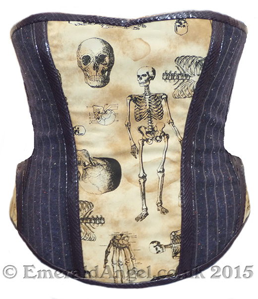 custom tweed skeleton gothic corset