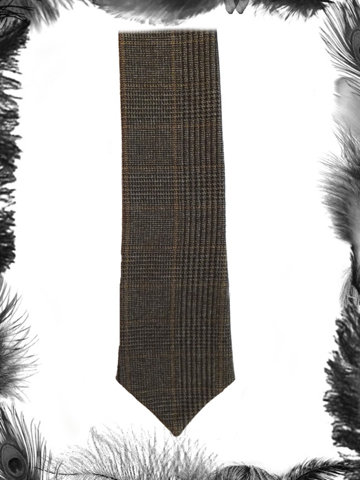 Brown Tweed Tie