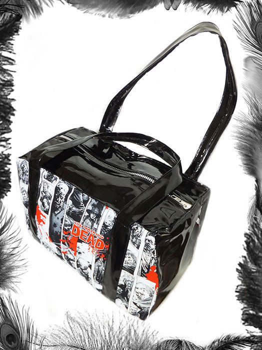 The Walking Dead Print & Pvc Handbag