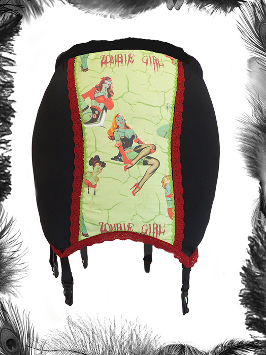 Zombie Pin Up Print Girdle, Psychobilly, Horror